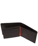 'Cain' Black Bi-Fold Leather Wallet image 4