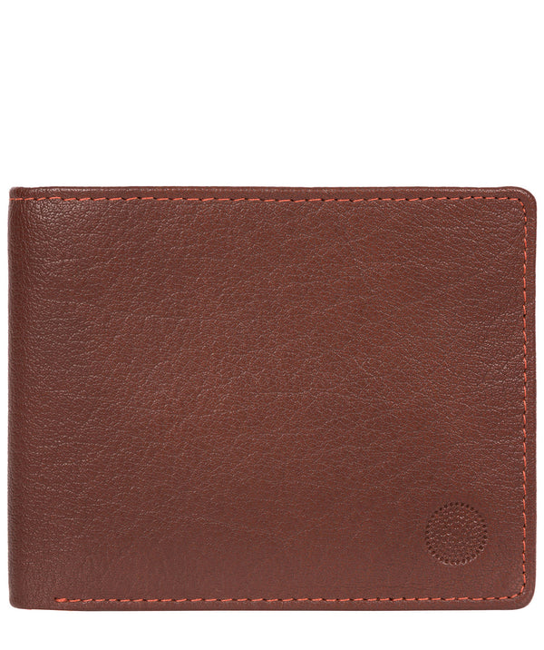 'Cain' Conker Brown Bi-Fold Leather Wallet image 1