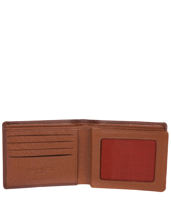 'Cain' Conker Brown Bi-Fold Leather Wallet image 3