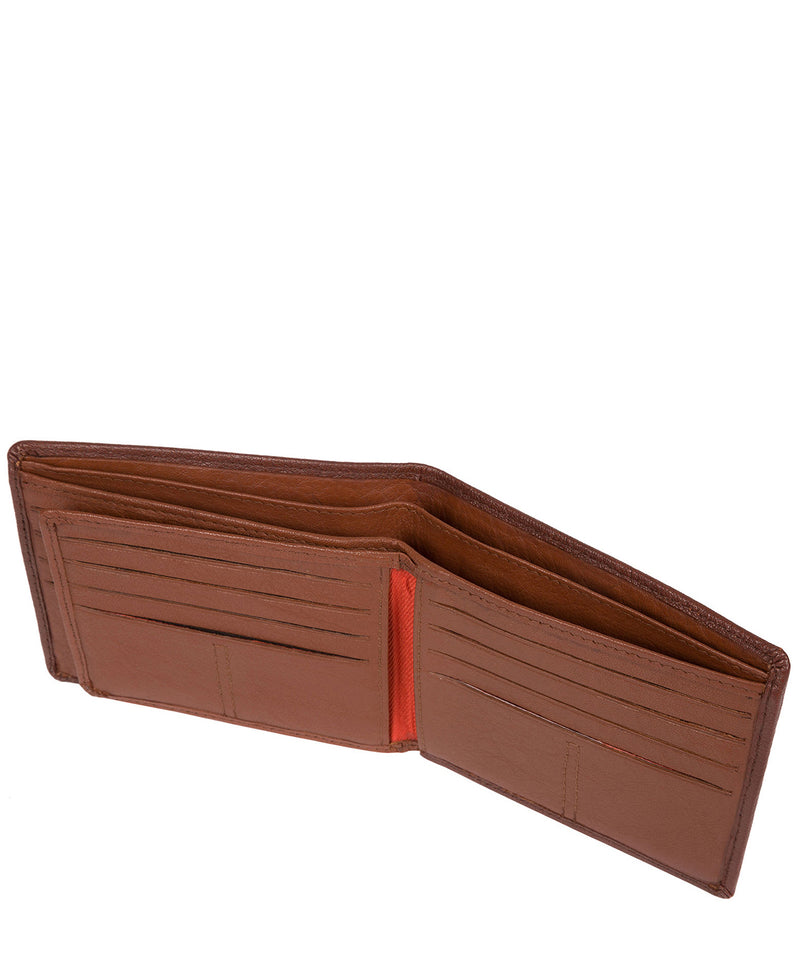 'Cain' Conker Brown Bi-Fold Leather Wallet image 4