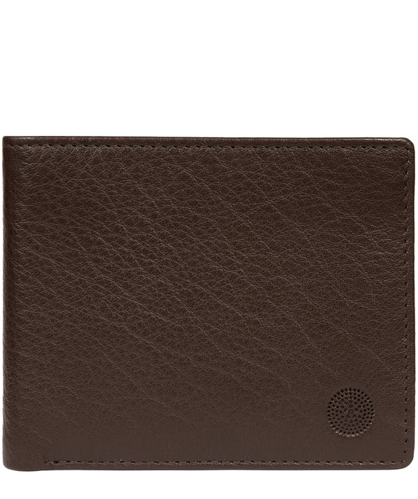 'Cain' Dark Brown Leather RFID Wallet image 1