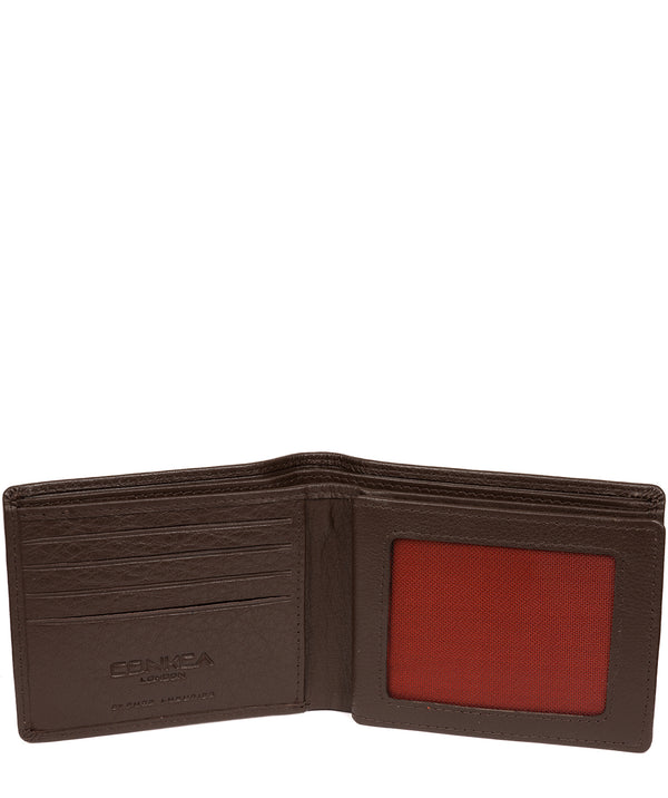 'Cain' Dark Brown Leather RFID Wallet image 3