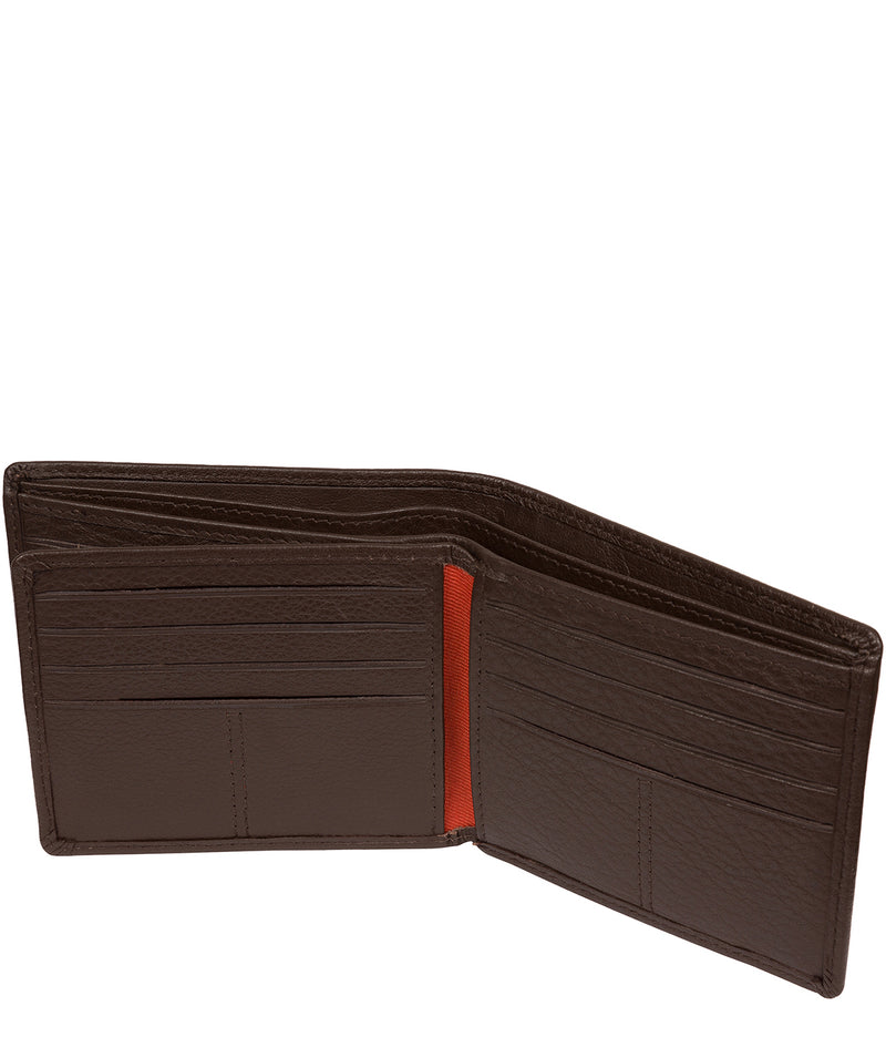 'Cain' Dark Brown Leather RFID Wallet image 4