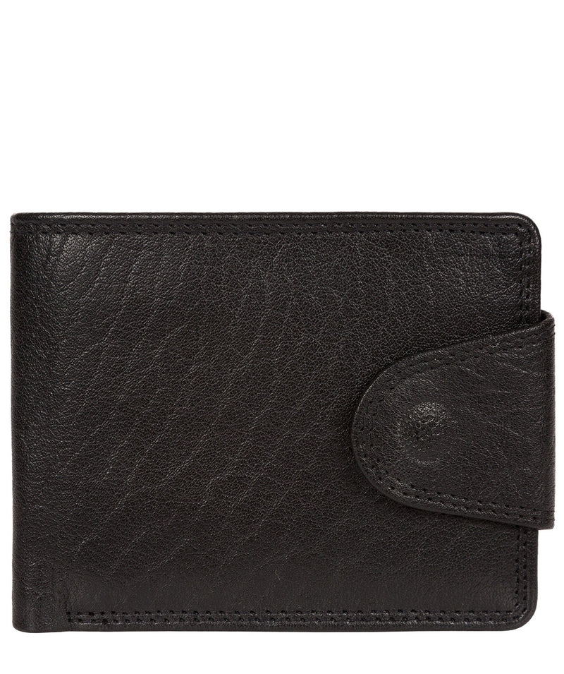 'Tyler' Black Bi-Fold Leather Wallet image 1