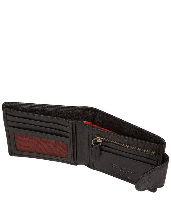 'Tyler' Black Bi-Fold Leather Wallet image 3