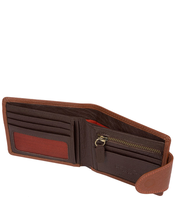 'Tyler' Chestnut Orange Bi-Fold Leather Wallet image 3