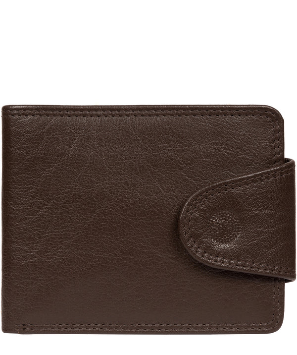 'Tyler' Dark Brown Leather RFID Wallet image 1