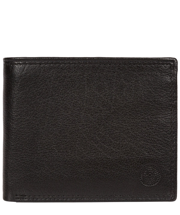 'Edge' Black Bi-Fold Leather RFID Wallet image 1