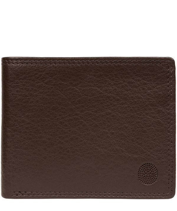 'Edge' Dark Brown Leather RFID Wallet image 1