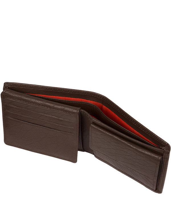 'Edge' Dark Brown Leather RFID Wallet image 3