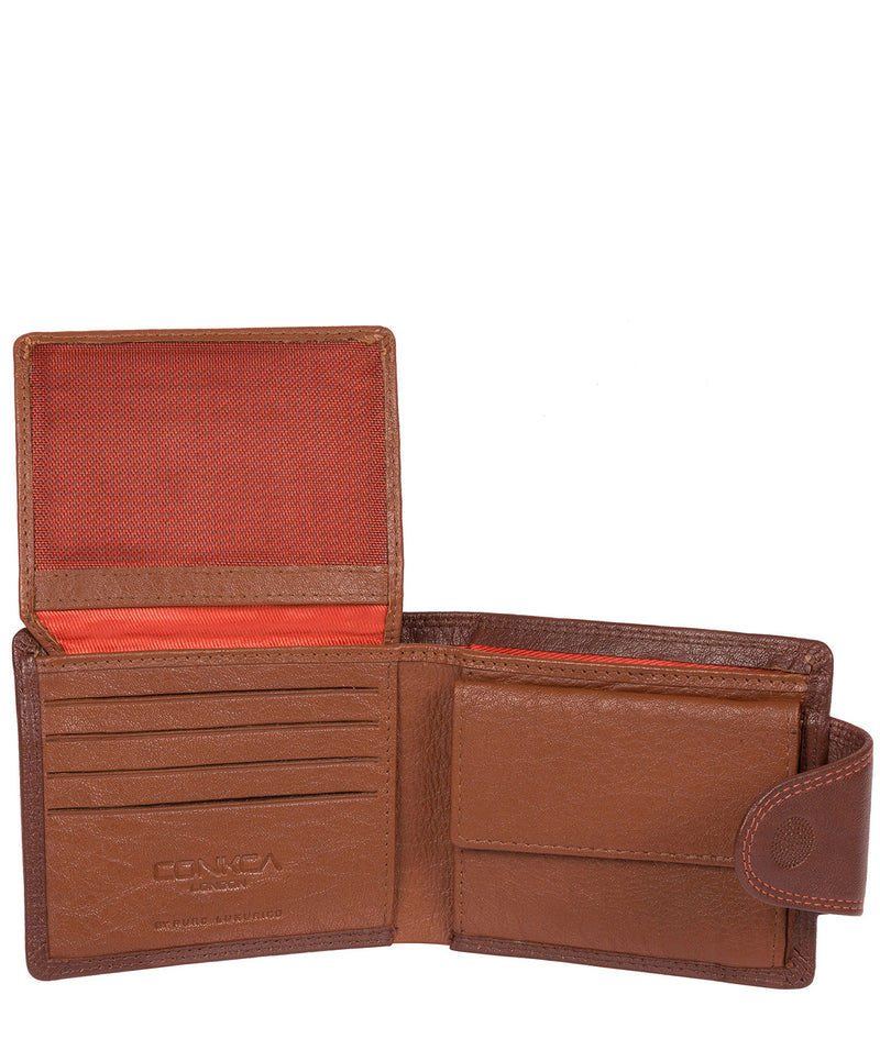 'Dunbar' Conker Brown Leather Wallet image 3
