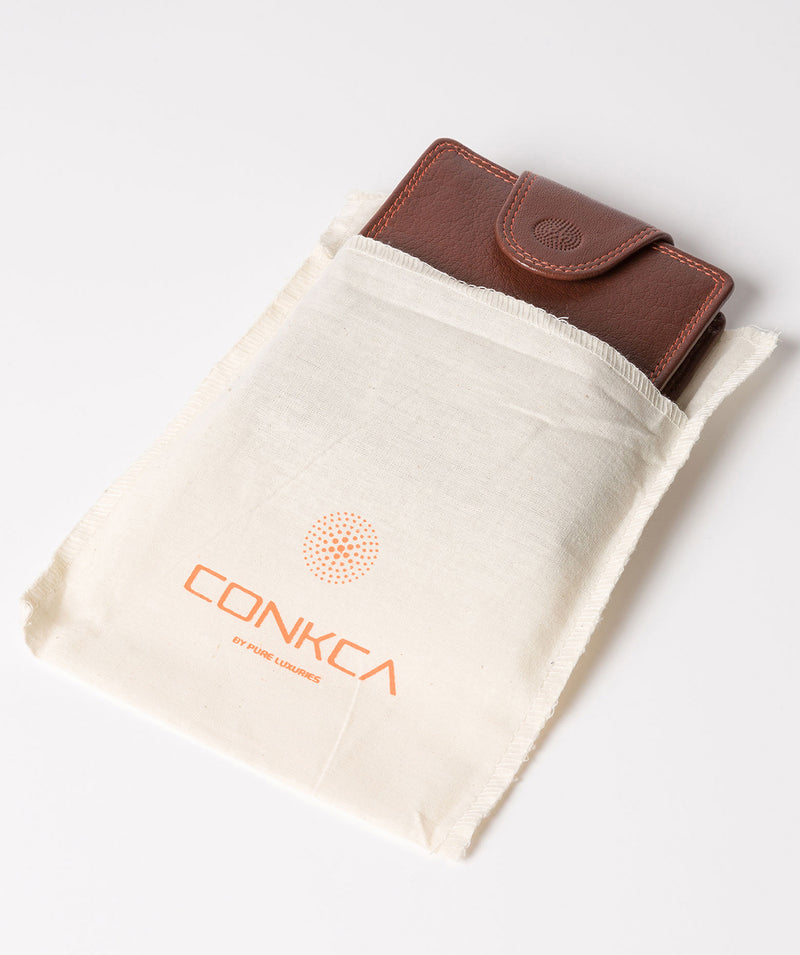 'Dunbar' Conker Brown Leather Wallet image 5