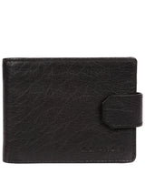 'Mason' Black Bi-Fold Leather Wallet image 1