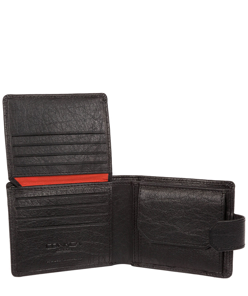 'Mason' Black Bi-Fold Leather Wallet image 3