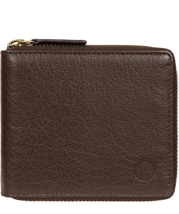 'Morrison' Dark Brown Leather RFID Wallet image 1