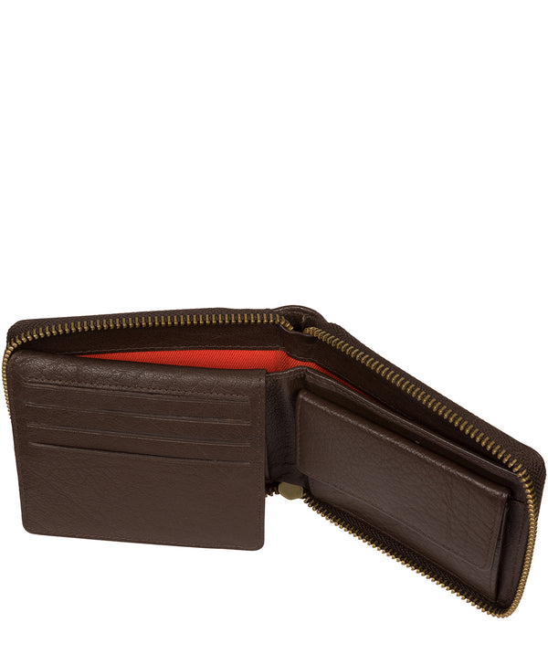 'Morrison' Dark Brown Leather RFID Wallet image 3
