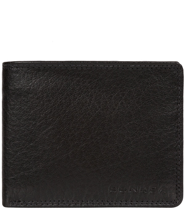 'Wilson' Black Bi-Fold Leather Wallet image 1