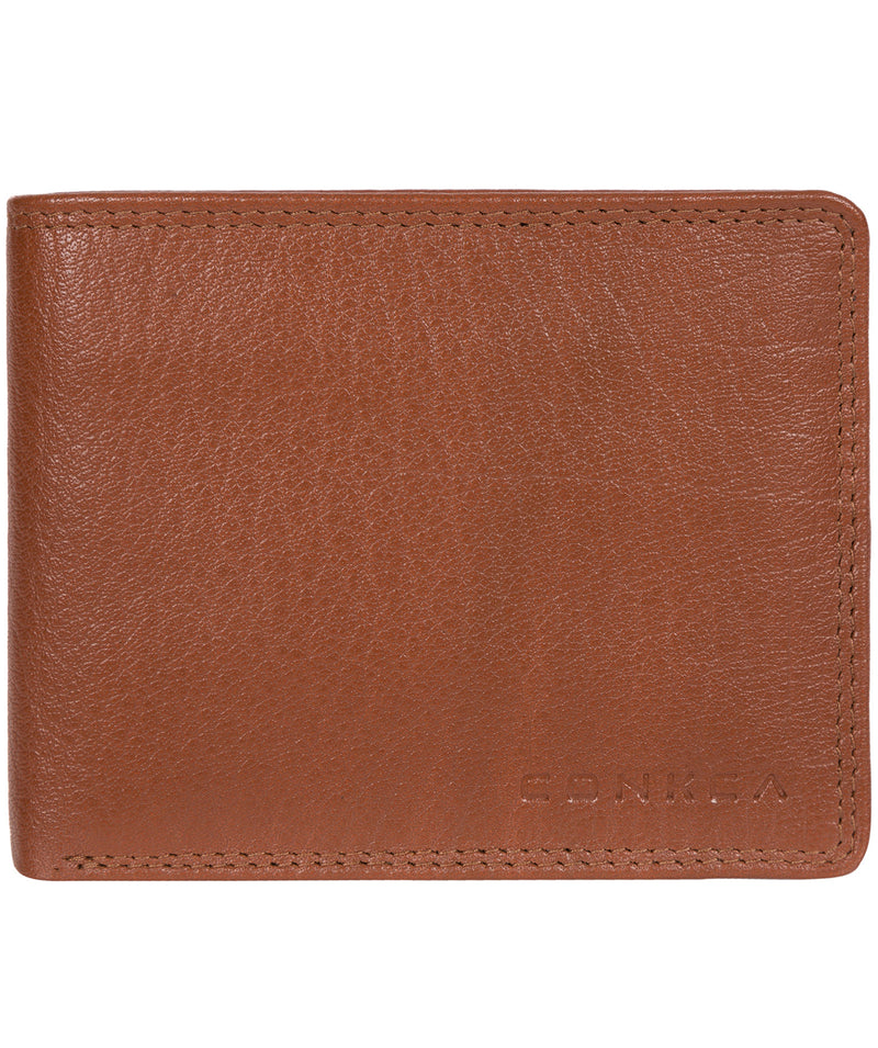'Wilson' Chestnut Dark Brown Bi-Fold Leather Wallet image 1