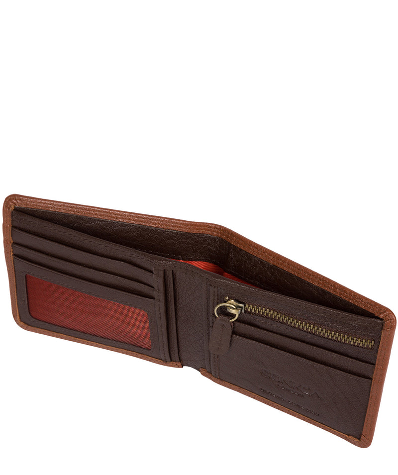 'Wilson' Chestnut Dark Brown Bi-Fold Leather Wallet image 3