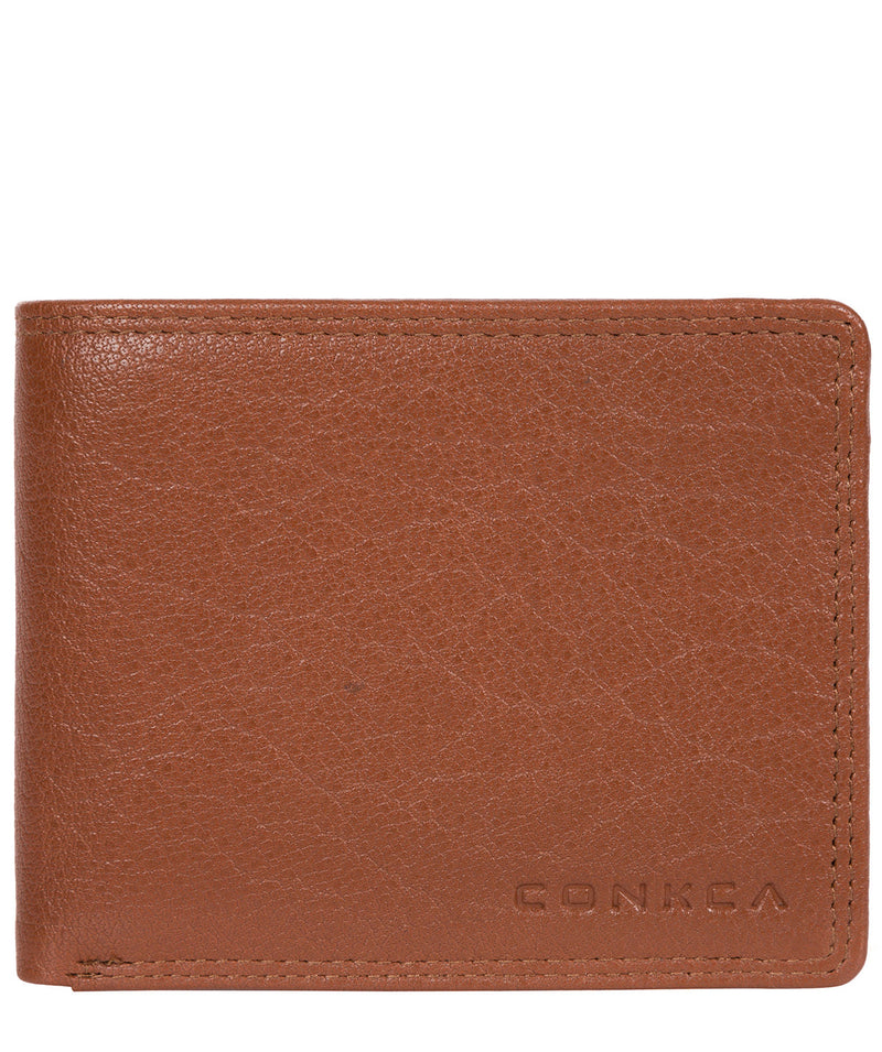 'Miller' Chestnut Dark Brown Bi-Fold Leather Wallet image 1