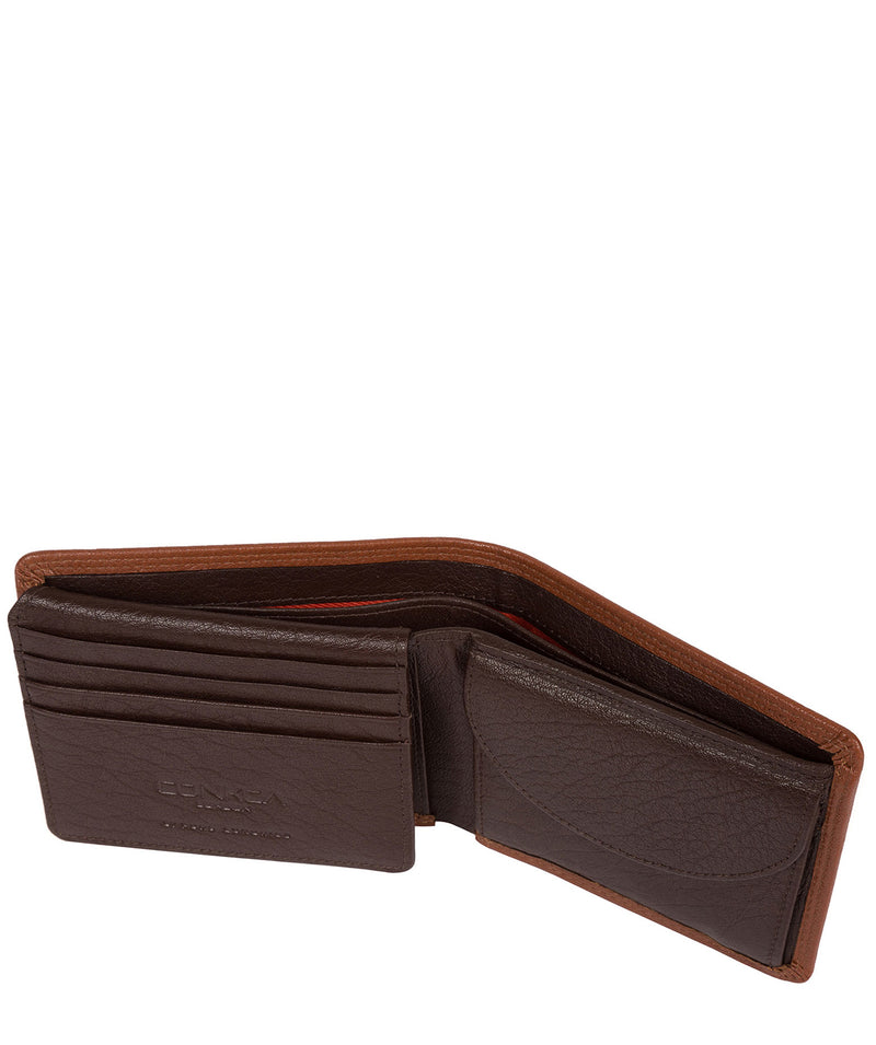 'Miller' Chestnut Dark Brown Bi-Fold Leather Wallet image 4