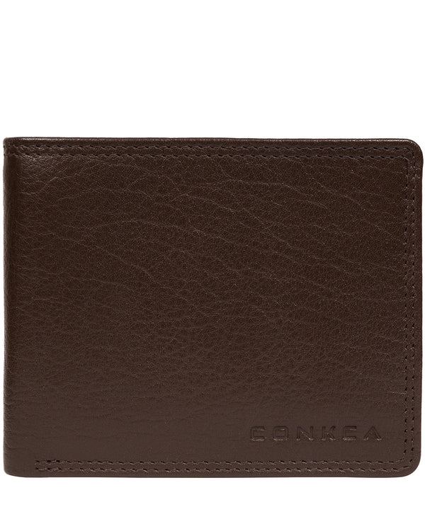 'Miller' Dark Brown Leather RFID Wallet image 1