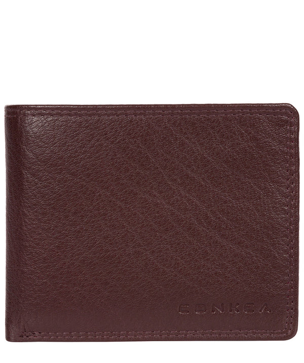'Miller' Oxblood Bi-Fold Leather Wallet image 1