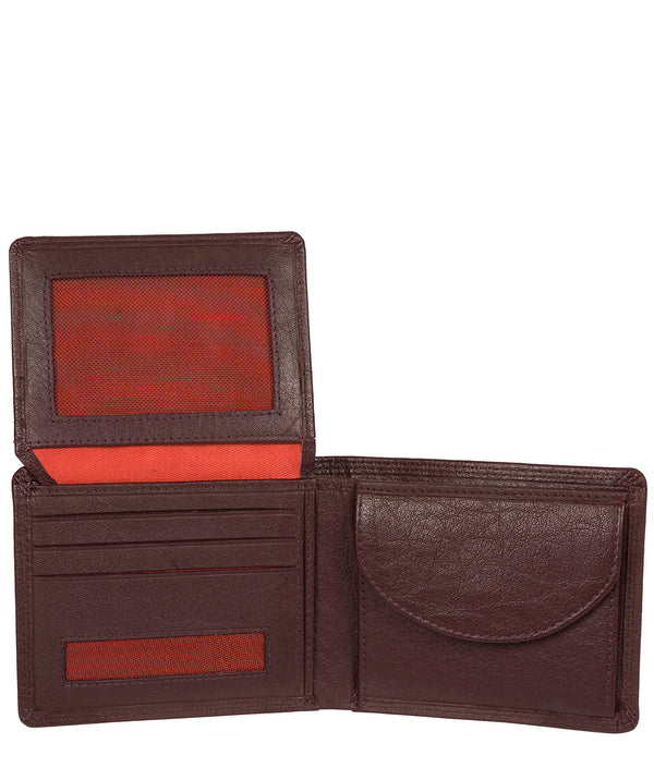 'Miller' Oxblood Bi-Fold Leather Wallet image 3