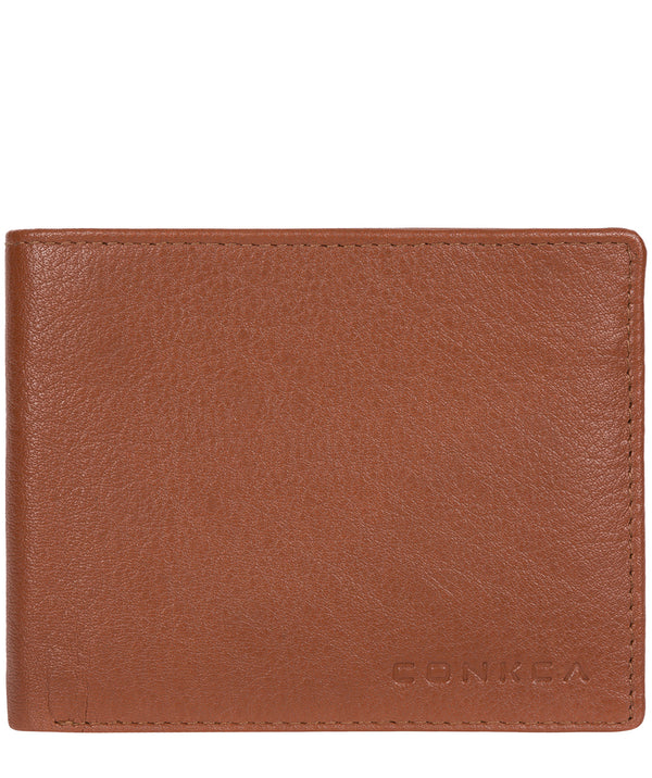 'Conan' Chestnut and Dark Brown Bi-Fold Leather Wallet image 1
