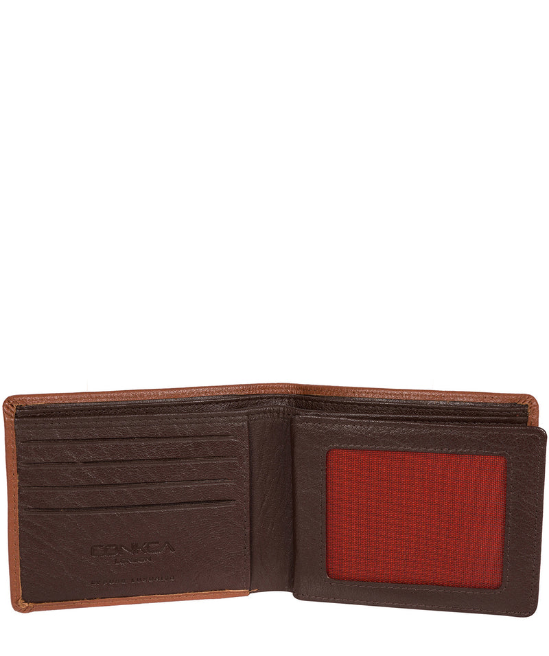 'Conan' Chestnut and Dark Brown Bi-Fold Leather Wallet image 3