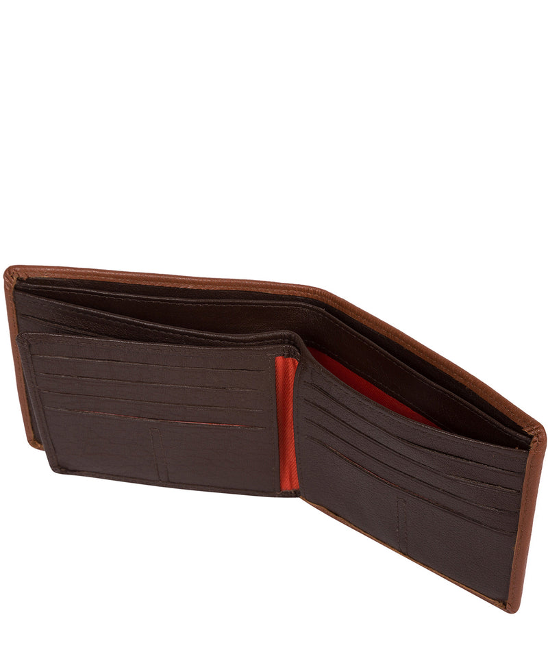 'Conan' Chestnut and Dark Brown Bi-Fold Leather Wallet image 4