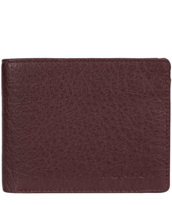 'Conan' Oxblood Bi-Fold Leather Wallet image 1