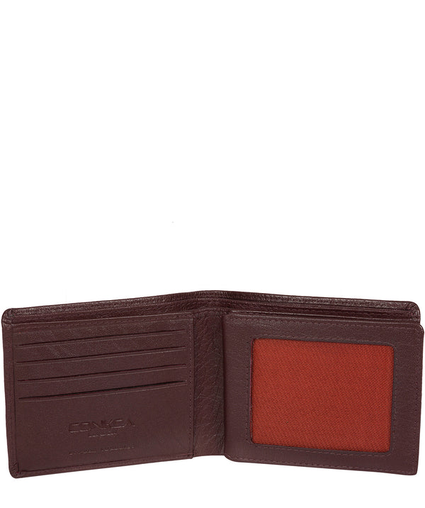 'Conan' Oxblood Bi-Fold Leather Wallet image 3