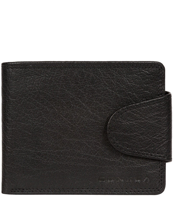 'Heath' Black Bi-Fold Leather Wallet image 1