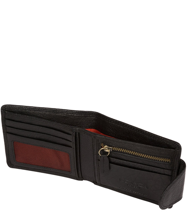 'Heath' Black Bi-Fold Leather Wallet image 3