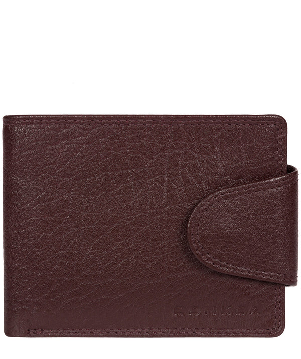'Heath' Oxblood Bi-Fold Leather Wallet image 1