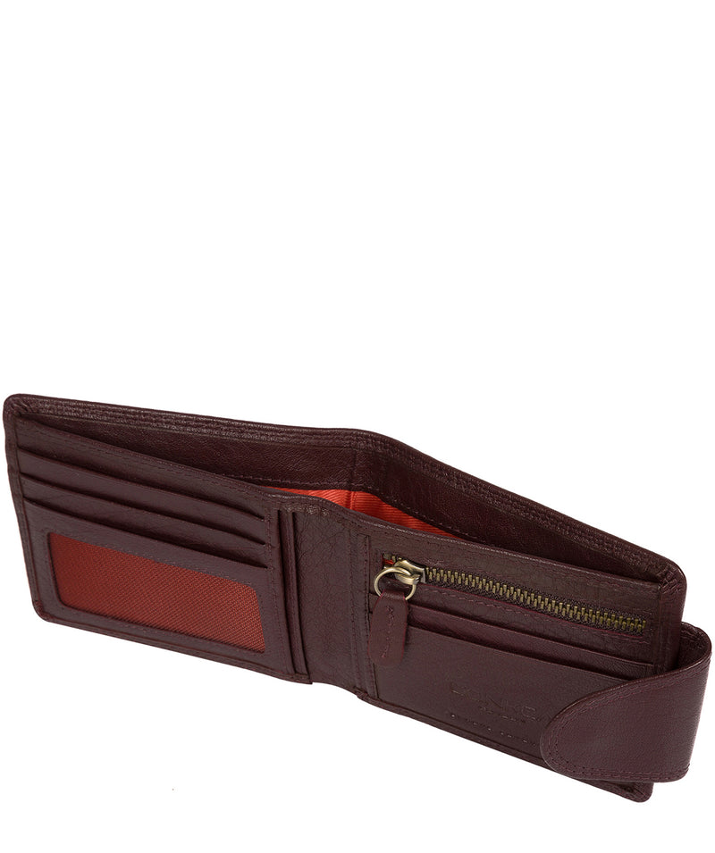 'Heath' Oxblood Bi-Fold Leather Wallet image 3