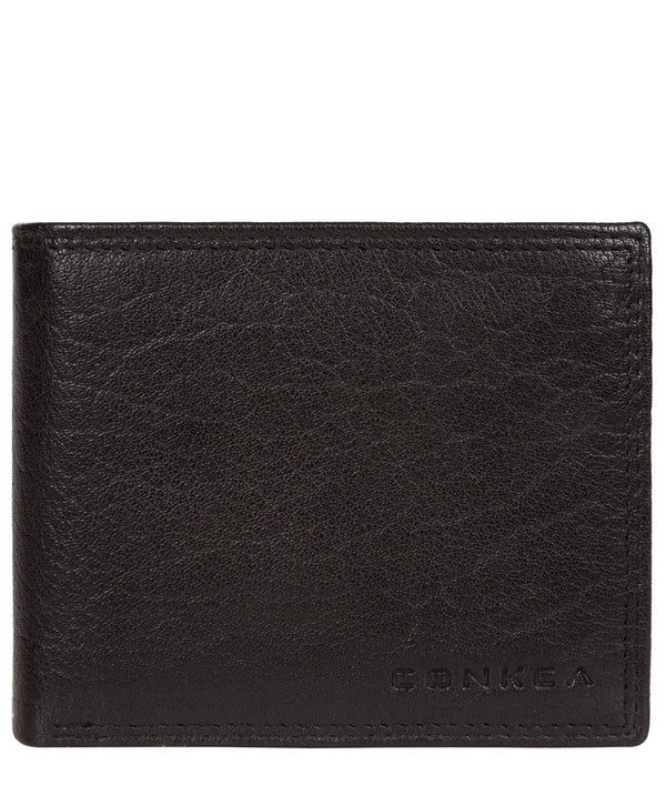'Ike' Black Bi-Fold Leather Wallet image 1