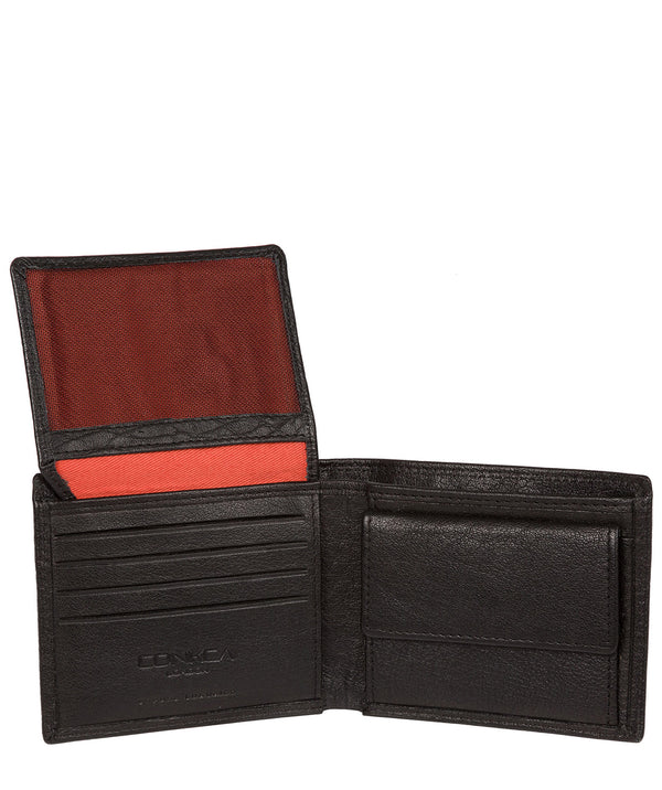 'Ike' Black Bi-Fold Leather Wallet image 3