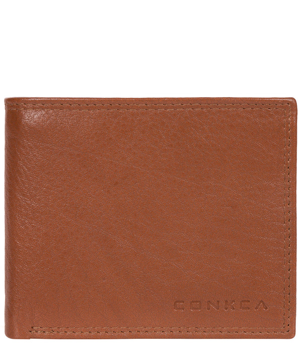 'Ike' Chestnut Dark Brown Bi-Fold Leather Wallet image 1