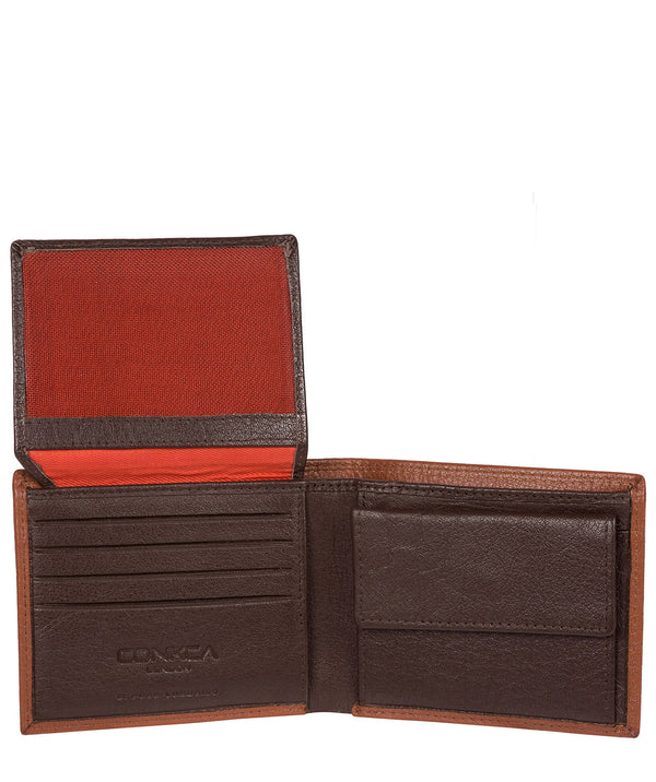'Ike' Chestnut Dark Brown Bi-Fold Leather Wallet image 3