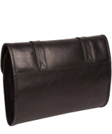 'Mere' Black Leather Hanging Washbag image 3