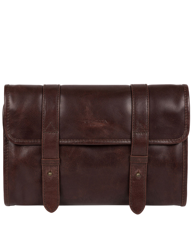 'Mere' Dark Brown Hanging Washbag image 1