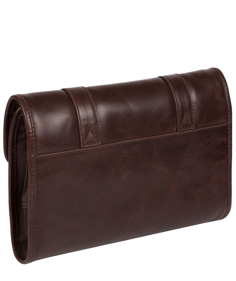 'Mere' Dark Brown Hanging Washbag image 3