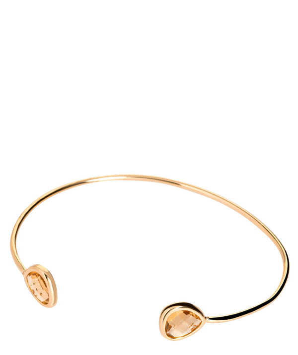'Capucine' Gold Plate & Amber Glass Bangle