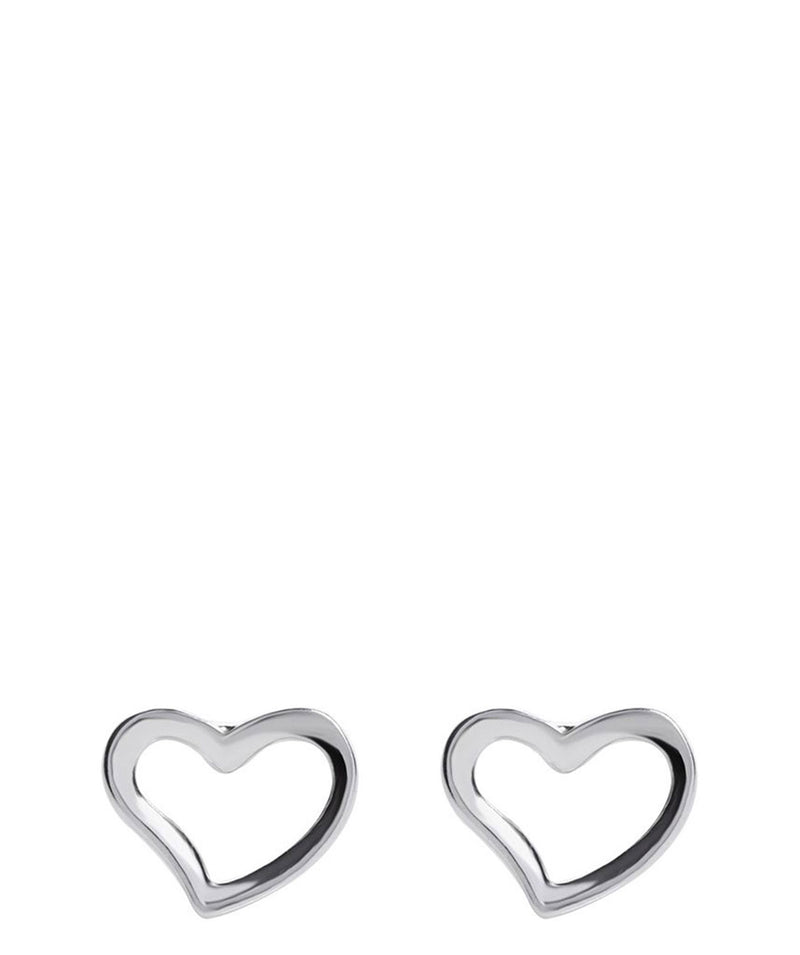 'Rosabella' Sterling Silver Heart Outline Earrings