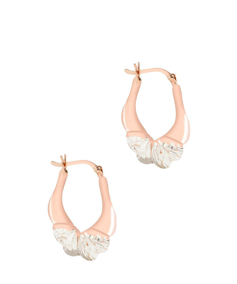 'Harmonia' Sterling Silver and Rose Gold Plated Sterling Silver Creole Earrings