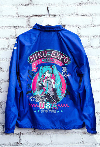 MIKU EXPO U.S.A. TOUR Blue Windbreaker