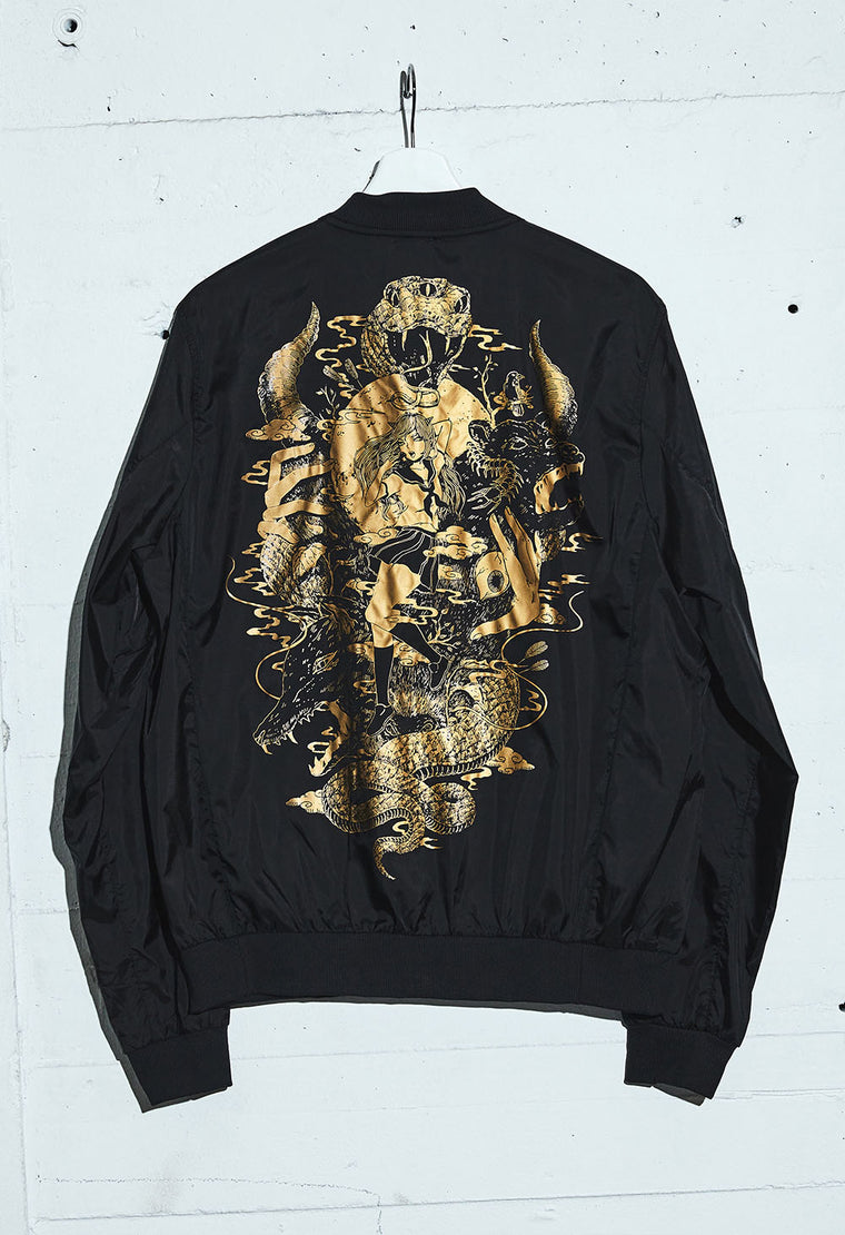 BAD HABIT Sheer Bomber Jacket