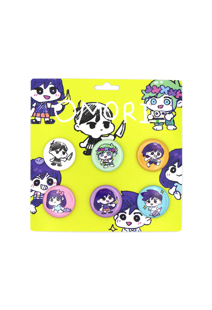 OMORI CHIBI Button Pin Set